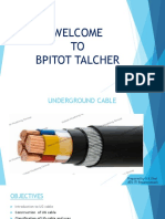 Ug Cable Types & Use Ppt