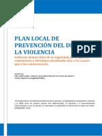 Anteproyecto de Plan de Prevencion Del Delito y La Violencia