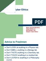 Cyber Ethics