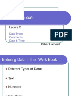 Lecture 2 - Data Types, Comments and Date