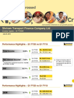 Shriram Transport Q1 FY20 presentation