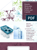 Kinetic Molecular Model of Solids and Liquids