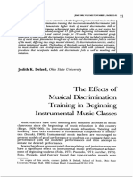 The Effects of Msical Discriminacion Training