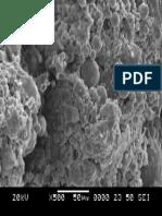 SEM image of fly ash based geopolymer 500