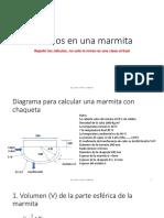 Cálculos en Una Marmita ULCB ingeniería de industrias alimentarias