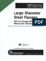 2011 B16.47-Large Dia Steel Flgs