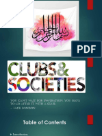 Societies and Clubs presentation