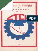 Estatutos de la CTCH en 1943