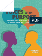 2019 Voices With Purpose. Conceptual Module