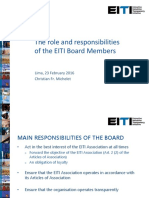 Eiti Board 2016 2019 Roles and Responsibilities 1