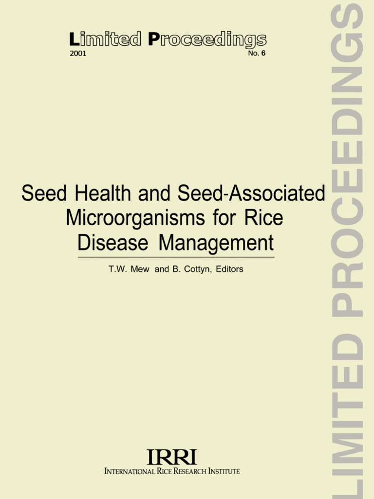 seed health and seed associated microorganisms for rice disease