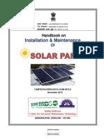 Handbook on Installation & maintenance of Solar Panel.pdf