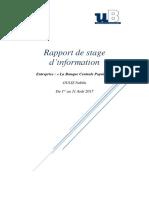 Rapport de Stage BCP
