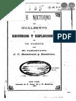 VIAJE NOCTURNO DE GUALBERTO - JUAN CRISOSTOMO CENTURION - ANO 1877 - PORTALGUARANI