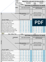 Registro de Matematica Competencia Gestiona Su Aprendizaje -III A
