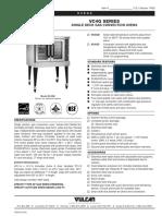 Vulcan vc4g Combi oven Specs  sheet