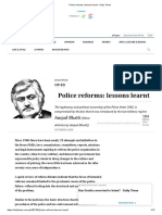 Police Reforms_ Lessons Learnt - Daily Times