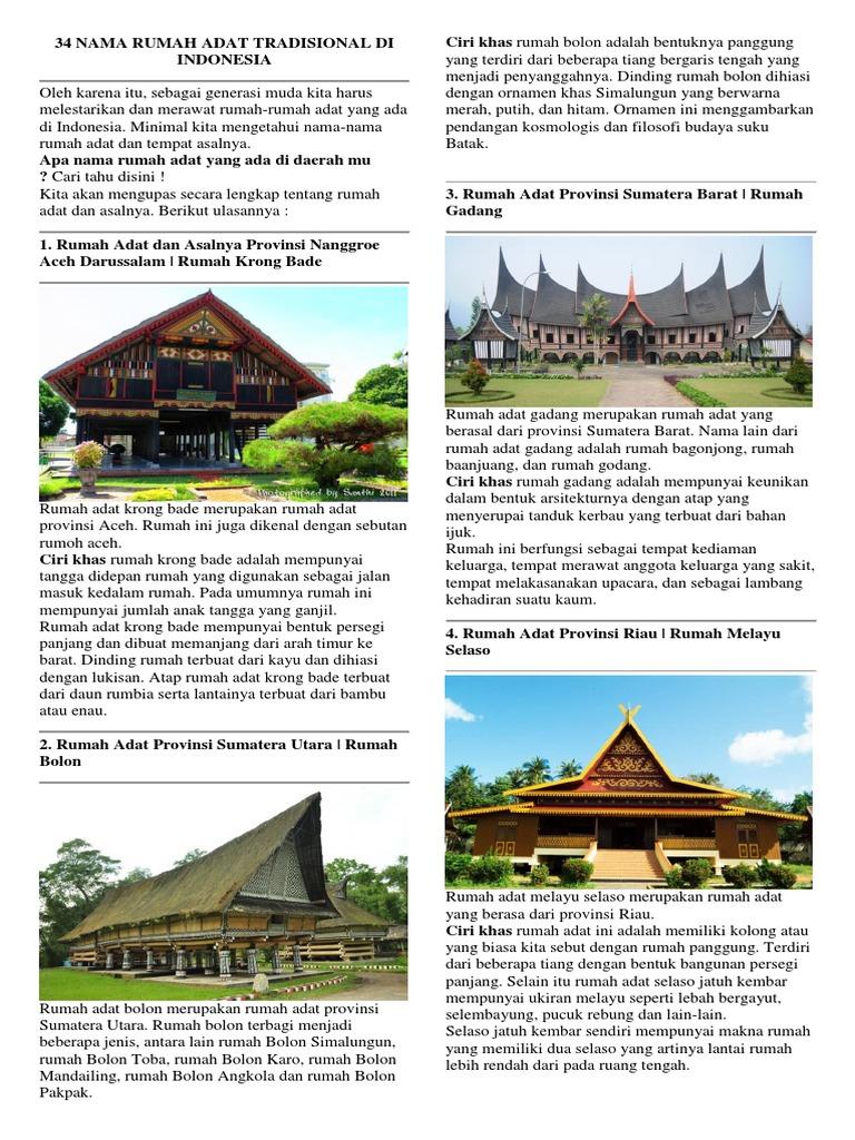 Rumah Adat Joglo Berasal Dari Provinsi Rumah Joglo Limasan Work