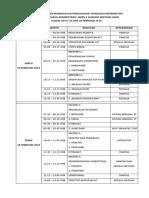 Jadwal Kegiatan Peningkatan Penguasaan Teknologi Informatika