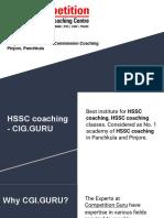 Haryana Staff Selection Commission Coaching in Pinjore, Panchkula