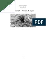 Chernobyl 33 Anni Di Bugie - Luogocomune Articolo