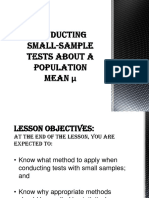 Conducting Small-sample Tests About a Population Mean μ