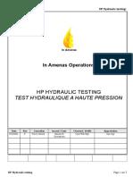 Draft- Ia Hp Hydraulic Testing