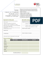 keeping track of physical activity and eating