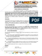 Bases de Fulbito Rapido Del v CICLO ES. FISICA Del IESSPPL 2019