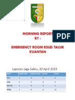 Laporan Igd Sabtu, 20 April 2019