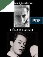 Saber Quedarse - Cesar Calvo - poesía