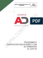 Con-p-43 Procedimiento Construcción Viga de Borde y Losa de Terminación
