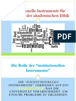 Institutionelle Instrumente für Förderung der akademischen Ethik