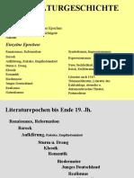 Epochen Und Strömungen Der Deutschen Literatur