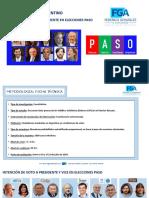 Encuesta Intención De Voto Nacional Julio 2019