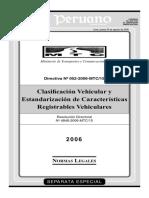 Clasificacion Vehicular MTC