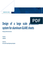 Design of a Large Scale Production System for Aluminum GLARE Sheets