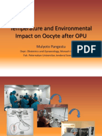 Temperature and Environmental Impact on Oocyte After OPU