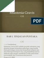 Miastenia Gravis New