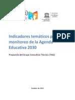 Indicadores tematicos en educacion para el monitoreo de la Agenda 2030
