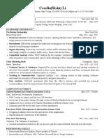 Sixin Li Resume