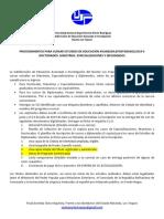 Orientaciones Ingreso a Estudios de Postgrado Unesr Los Teques