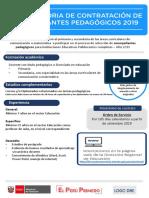 CONVOCATORIA ACOMPAÑANTES PEDAGOGICOS - MINEDU