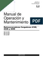Manual de Operacion y Mantenimiento Retroexcavadora 416e, 422e y 428e