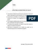 Declaración Pública Ministerio de Salud
