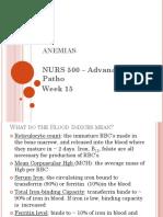 Adv'd Patho Wk 15 Anemias