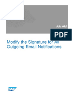 Modify the Signature for All Outgoing Email Notifications