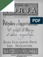 Cuaderno N°4. Petróleo e imperialismo. Raúl Scalabrini Ortiz y Luis Dellepiane. Septiembre 1938