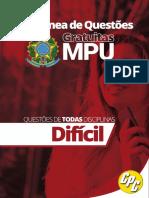 Colêtanea de Questões MPU MARC - Nível Difícil