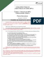 Mpu 18 Padro de Respostas Definitivo